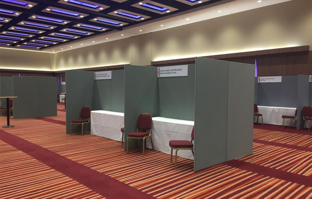 Exhibition poster and display panel Leeds